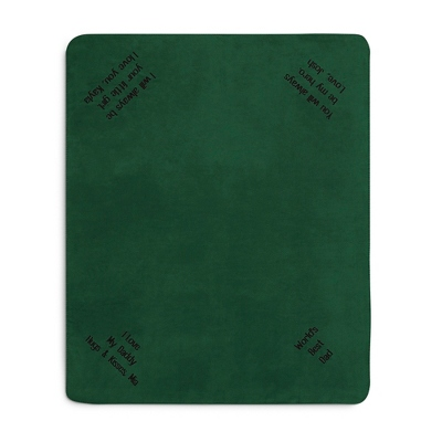 Multi Corner Forest Fleece Blanket - $15.99