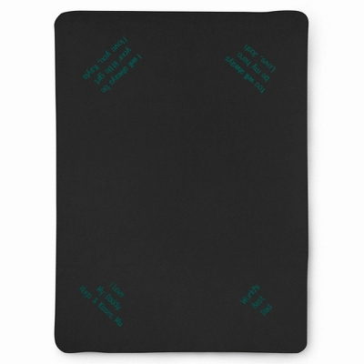 Multi Corner Black Fleece Blanket - UPC 825008316515