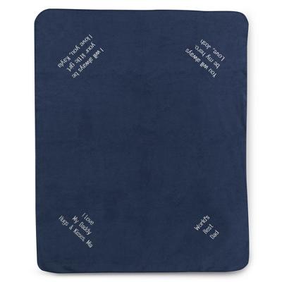 Multi Corner Navy Fleece Blanket - UPC 825008316522