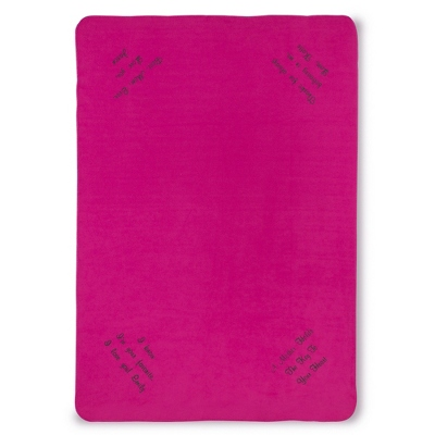 Multi Corner Bright Pink Fleece Blanket - Throws for Her