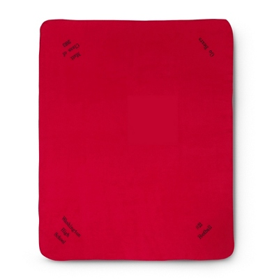 Multi Corner Red Fleece Blanket
