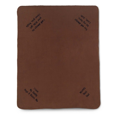 Multi Corner Brown Fleece Blanket - $15.99