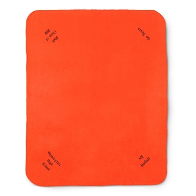 Multi Corner Bright Orange Fleece Blanket