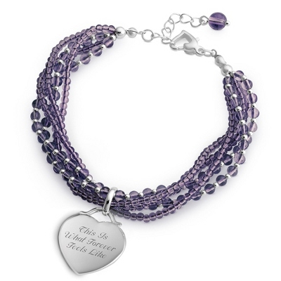 Purple 5 Strand Bracelet with complimentary Filigree Keepsake Box