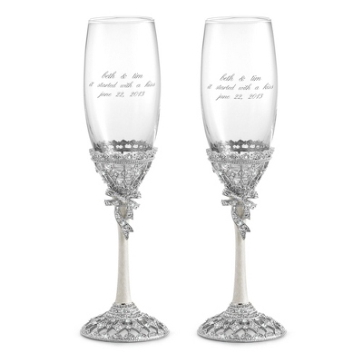 Contessa Toasting Flutes - Romantic Wedding