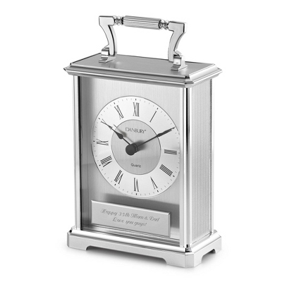 Silver Carriage Clock - UPC 825008317963