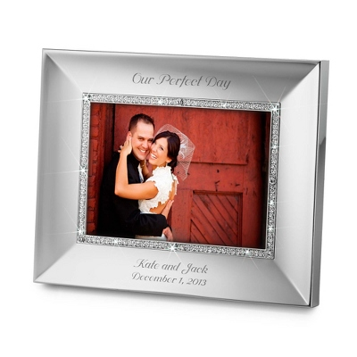Landscape Midnight Chrome 5x7 Frame - Wedding Frames & Albums
