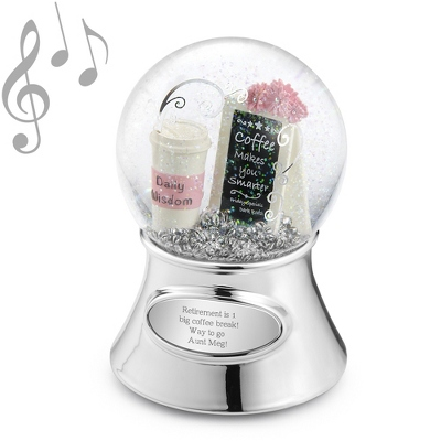 Coffee Theme Musical Water Globe - Water Globes for Her