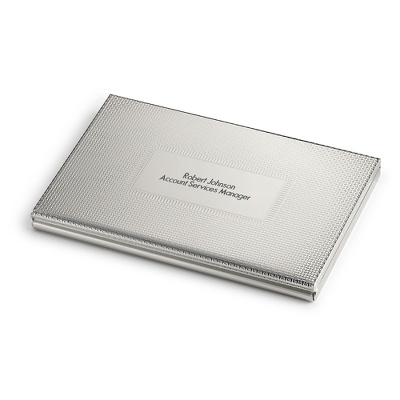 Weave Texture Card Case with complimentary Engravable Red Secret Message Card