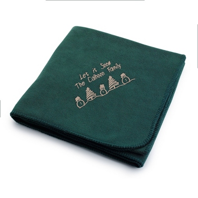 Embroideried Fleece Blankets