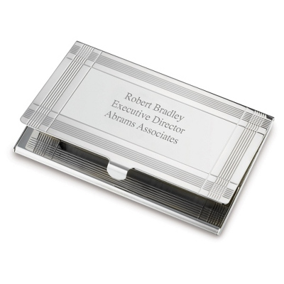 Marvin Card Case with complimentary Engravable Red Secret Message Card - Purse Accessories