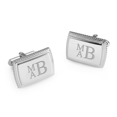 Platinum Plated Cuff Links