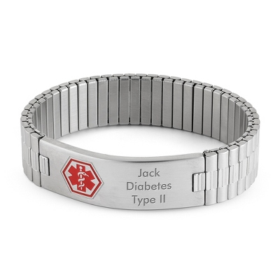 Expansion Style Medical ID Bracelet with complimentary Tri Tone Valet Box - $30.00