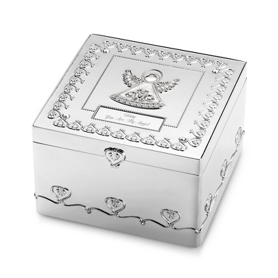 Engraved Angel Keepsake Box