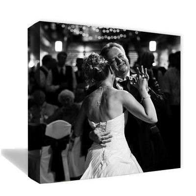 "12"" x 12"" Photo to Canvas Art: Black & White - Wedding Photo to Canvas Art"