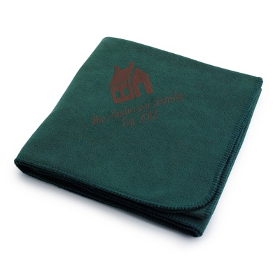 Brown House on Forest Fleece Blanket
