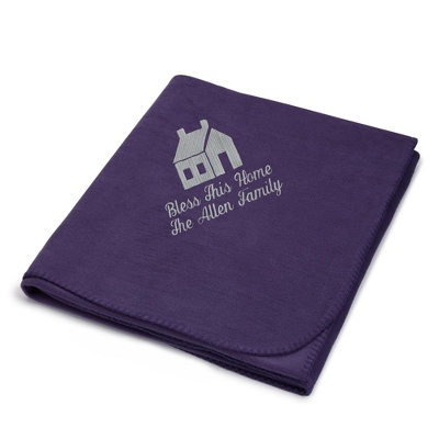 Light Carbon House on Purple Fleece Blanket - $25.99