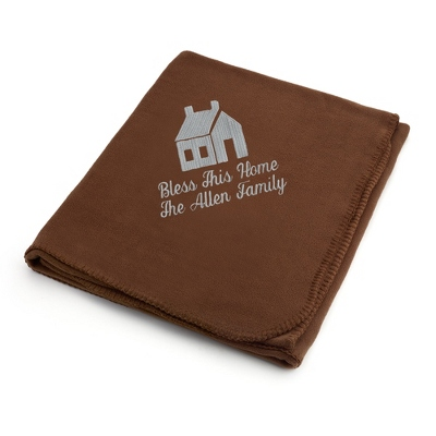 Light Carbon House on Brown Fleece Blanket - $25.99