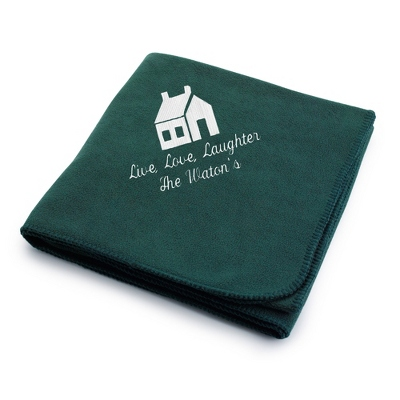 White House on Forest Fleece Blanket