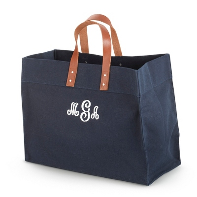 Navy Canvas Utility Tote