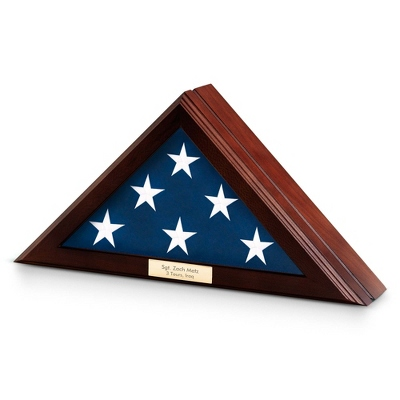 Cherry Wood 3x5 Flag Case - UPC 825008320628