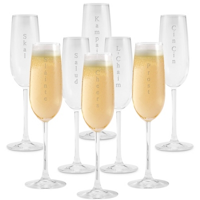 Engraved Champagne Toasting Glasses - 24 products