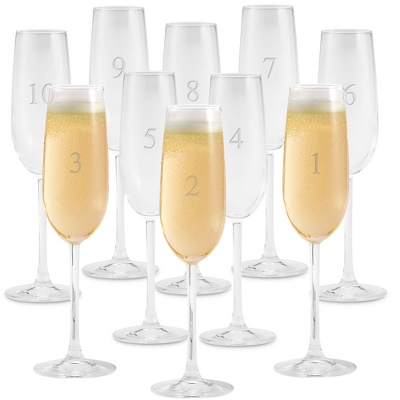 Champagne Flutes with Engraving