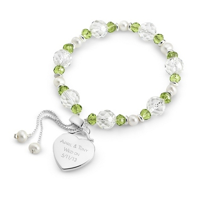 Green Lariat Bracelet with complimentary Filigree Keepsake Box