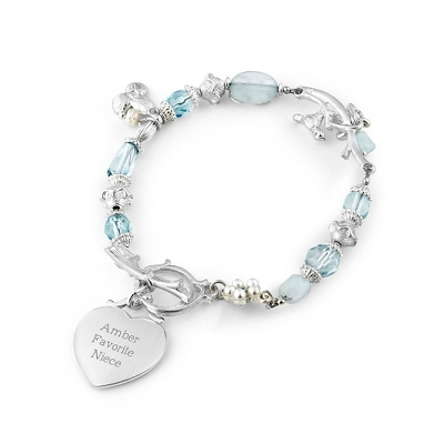 Bird & Branch Blue Bracelet with complimentary Filigree Keepsake Box - UPC 825008321243