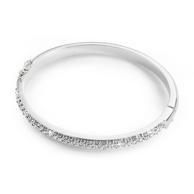 Half Pave Bangle with complimentary Filigree Keepsake Box