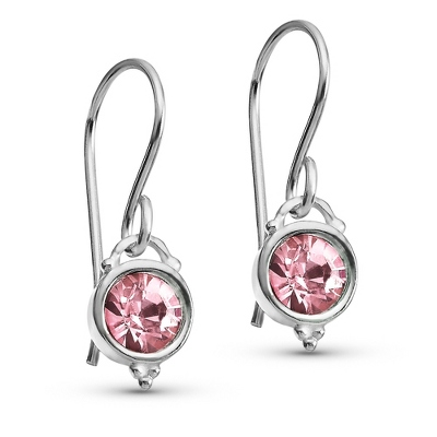 Sterling October Birthstone Dangle Earrings