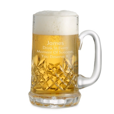Small Cut Crystal Beer Mug - Barware & Accessories