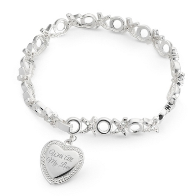 Kisses & Hugs Bracelet with complimentary Filigree Keepsake Box