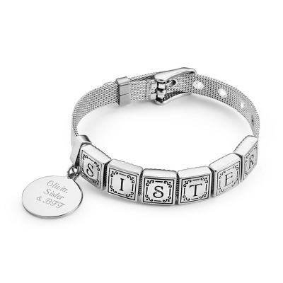 Words from the Heart Bracelet with 6 Tiles with complimentary Filigree Keepsake Box - UPC 825008322561