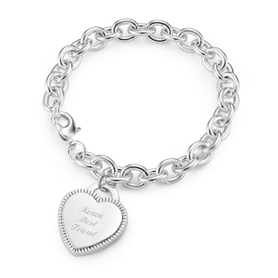 Classic Beaded Heart Bracelet with complimentary Filigree Keepsake Box