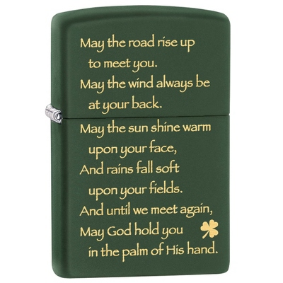 Zippo Irish Blessing Lighter - Smoking & Lighters