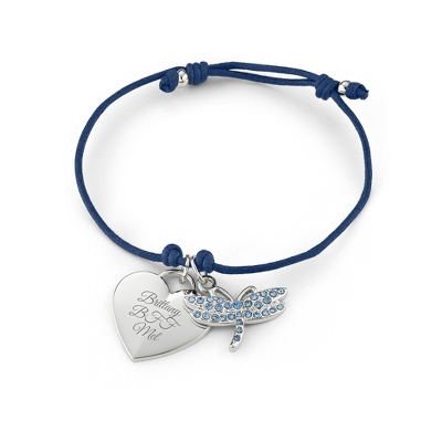 Navy Dragonfly Friendship Bracelet with complimentary Filigree Keepsake Box - UPC 825008325555