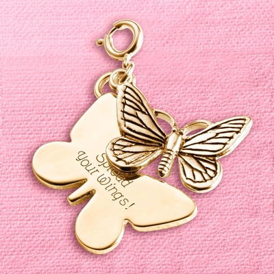 Personalized Butterfly Charm