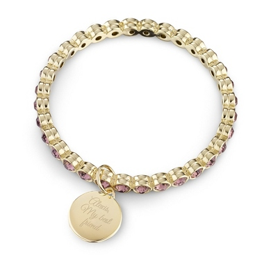 Gold Eternity Rose Bangle with complimentary Filigree Keepsake Box - Fashion Bracelets & Bangles