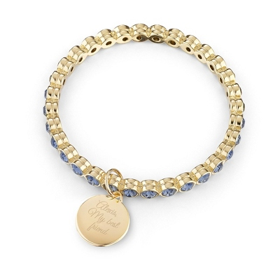 Gold Eternity Denim Bangle with complimentary Filigree Keepsake Box - Fashion Bracelets & Bangles