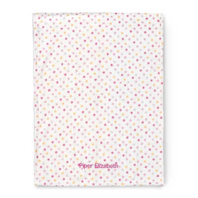 Pink Multi Dot Blanket - $15.00