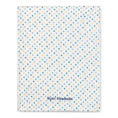 Blue Multi Dot Blanket - $15.00