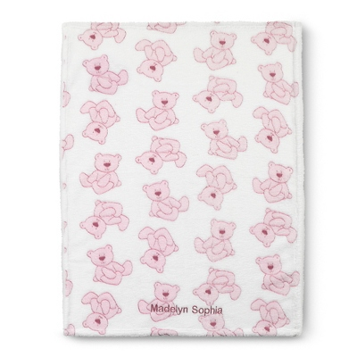 Pink Plush Bear Blanket