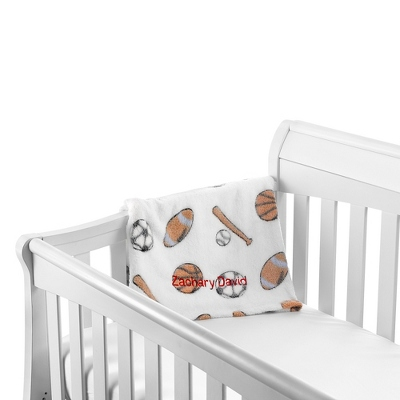 Sports Blanket and Baseball Rattle Set