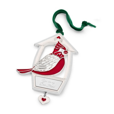 2013 Cardinal 2D Ornament - All Personalized Ornaments
