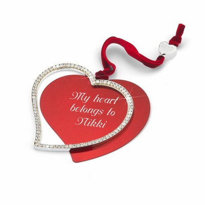 2013 CZ Swing Heart Ornament