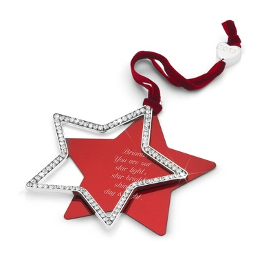2013 CZ Swing Star Ornament
