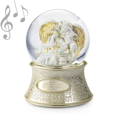 Angel of the Garden Musical Snow Globe