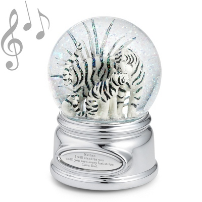 Tiger and Cub Musical Snow Globe