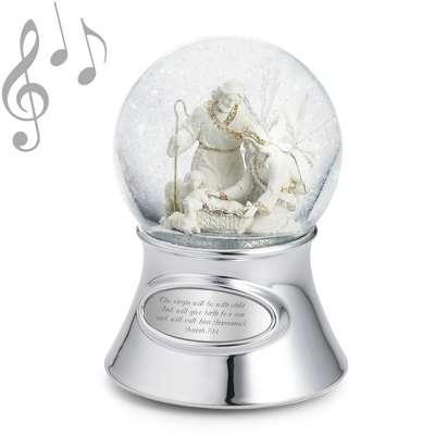 Personalized Touch of Gold Nativity Musical Snow Globe by Things Remembered